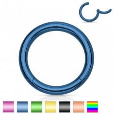 Piercing de nas sau ureche, din oțel, cerc simplu lucios, 1,6 mm - Grosime x diametru: 1,6 mm X 12 mm, Culoare Piercing: Verde