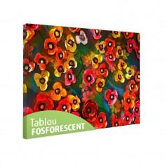 Tablou fosforescent Panselute multicolore