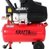 Compresor de aer industrial 24 litri, 2.8kW, 220V KraftDele KD400