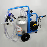 Aparat de muls oi si capre EMT BLUE 1+1GA25, 1 bidon aluminiu 25 litri, un post