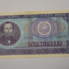100 lei 1966 - una suta lei - Nicolae Balcescu - seria C 0023 - UNC