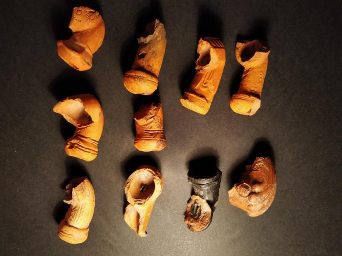 Lot 10 pipe ceramice Vechi Lulele secolul XIX