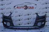 Bară față Audi Q3 S-Line an 2011-2015 cu găuri pentru spălătoare faruri