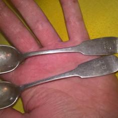 Doua lingurite argint 0.750 (12 loth)