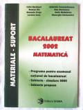 BACALAUREAT 2002 MATEMATICA. Programa - Subiecte simulare -Subiecte propuse