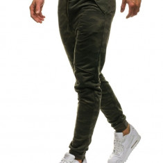 Pantaloni joggers sportivi pentru bărbat camuflaj-verzi Bolf HL8516