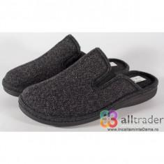 Papuci de casa gri inchis pentru barbati/barbatesti (cod 191008)