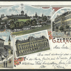 1898 LITHO AK Carte Postala Circulata BUKOWINA Bucovina Gruss Aus Czernowitz