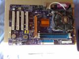 Placa de baza ECS KT600-A  socket A 462 + 512 ram + sempron 2600+ + cooler, Pentru AMD, DDR