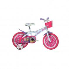 Bicicleta pentru fetite Barbie, 14 inch, maxim 50 kg, 4 ani+