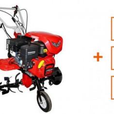 Motocultor Loncin LC850, 7 CP, cu roti C. + plug + rarita