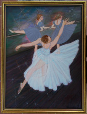 Tablou unicat Repetitia balerinelor, cu rama noua din lemn foto