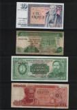 Set #28 7 bancnote de colectie 1952 - 2008, Europa