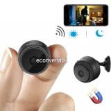 Mini Camera Video Spion cu Microfon WIFI Night-Vision Magnet HIDVCAM