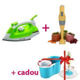Pachet Ideal Pentru Casă! Fier de Călcat + Blender de Mână + CADOU Mop Rotativ
