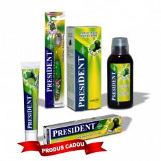 Pachet Promo igiena orala President Copii + 6 ani: Gratuit pasta de dinti aroma Lime 50ml + Apa de gura Children aroma Lime 250ml + Periuta de copii