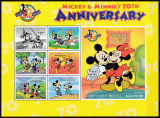 DB Disney  Dominica Mickey Aniversare 70 de Ani MS  MNH, Nestampilat