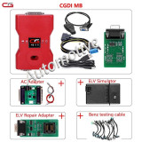 CGDI MB Prog Benz +EIS/ELV cables +AC adapter +ELV repair adapter +ELV emulator