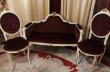 Salon/salonas/set hol baroc venetian/canapea/sofa si scaune,vintage/antic, Sufragerii si mobilier salon, 1900 - 1949