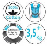 Marsupiu ergonomic Easy comfort Stripe blue Wallaboo