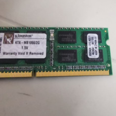 Ram Laptop Kingston 2GB DDR3 1066MHz KTA-MB1066-2G