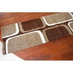 Traversa Jazzy Tetris maro inchis, 100 cm