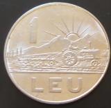 Moneda 1 LEU - RS ROMANIA, anul 1966  *cod 4300 -  circulata dar cu luciu