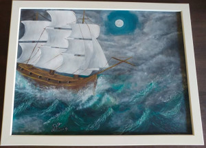 Tablou pictura acrilica Furious Sea