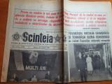 Scanteia 27 ianuarie 1988-articole si foto de la ziua de nastere a lui ceausescu