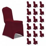 Huse de scaun elastice, 18 buc., vișiniu