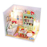 Jucarie Diorama DIY Casuta de Papusi Family Hall M012