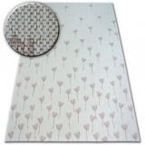 Covor sisal Flat 48779/526 Flori crem roz, 140x200 cm, Dreptunghi