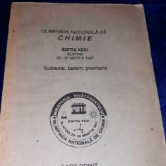 Olimpiada nationala de chimie - Subiecte, barem, premianti - 1997