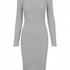 Ladies Striped Turtleneck Dress
