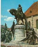 CPIB 16170 CARTE POSTALA - CLUJ NAPOCA. STATUIA LUI MATEI CORVIN, Circulata, Fotografie