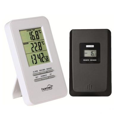 Termometru cu ceas, afisare temperatura exterior interior, home foto