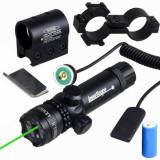 Laser verde pentru arma cu acumulator si suport!Cadoul ideal!
