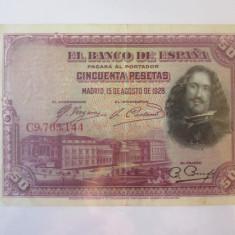 Spania 50 Pesetas 1928