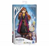 Frozen 2 - Papusa Swirling Adventure cu lumini, Anna, Disney