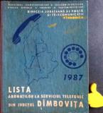 Lista abonatilor la serviciul telefonic din Judetul Dambovita 1987