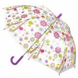 Umbrela pentru copii, model flori multicolore, 65×80 cm
