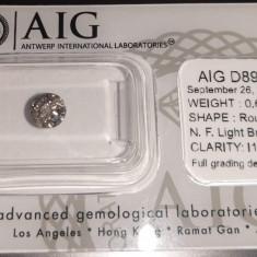 Diamant natural 0.62ct Certificat AIG