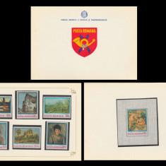 1974 Romania, Reproduceri de arta Impresionismul LP 839-40, carnet filatelic