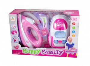 Set cadou pentru copii cu aspirator de jucarie si fier de calcat