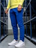 Pantaloni de trening bărbați albastru-cobalt Bolf CK01