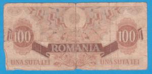 (3) BANCNOTA ROMANIA - 100 LEI 1947 (25 IUNIE 1947)