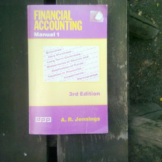 Financial accounting - A.R. Jennings (Contabilitate financiara) Manual 1