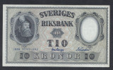 A5160 Sweden Suedia 10 kronor 1958 SEMNATURI DIFERITE aUNC