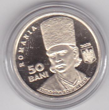 ROMANIA - 50 Bani 2021 - 200 de ani de la Revoluția din 1821- Tudor Vladimirescu foto