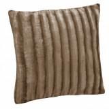 Perna decorativa, 60×60 cm, 100% poliester, maro